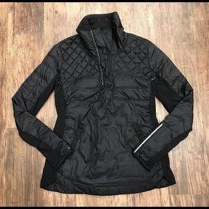 Lululemon black quilted pullover jacket
